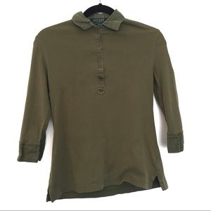 [RALPH LAUREN] Cotton 1/2 sleeve Collared Shirt PS